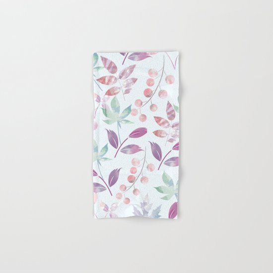 Flower Pattern Hand & Bath Towel