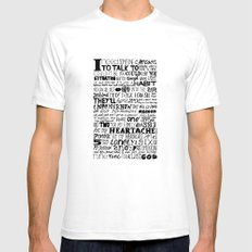 Word Mens Fitted Tee SMALL White