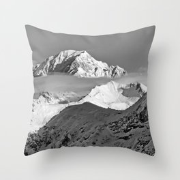 Mont Blanc French Alps France Throw Pillow