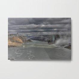 Downstream at Niagara Falls Metal Print