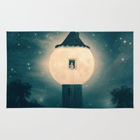 marianna Area & Throw Rugs featuring The Moon Tower by Paula Belle Flores