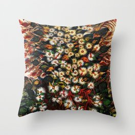 'Les Grandes Marguerites' - Flowers by Seraphine Louis Throw Pillow