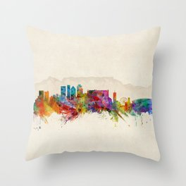 Cape Town South Africa Skyline Throw Pillow