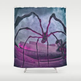 Attack of the Spiders from Mars Shower Curtain