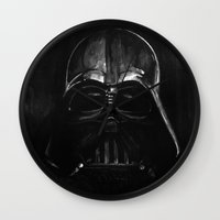 darth Wall Clocks featuring Darth by Heather Engelberg