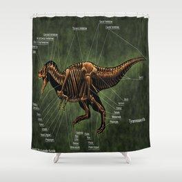 Tyrannosaurus Rex Skeleton Reconstruction Shower Curtain