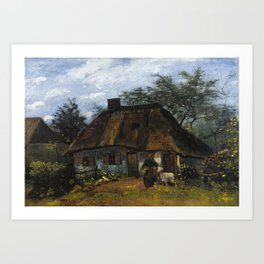 Vincent van Gogh - Farmhouse in Nuenen Art Print