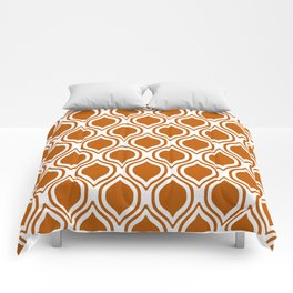 Texas longhorns orange and white university college texan football ogee Comforters