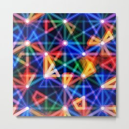 Flux Capacitor Geometric Art Print. Metal Print