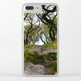 Bendy Trees Clear iPhone Case
