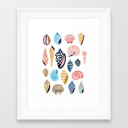 Under the Sea Shells Framed Art Print