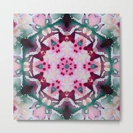 pink and green mandala Metal Print