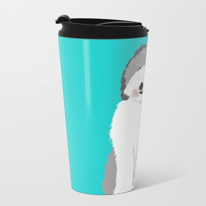 Lucy The Sheepadoodle Metal Travel Mug