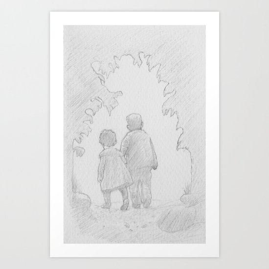 A Walk in Paradise  Art Print