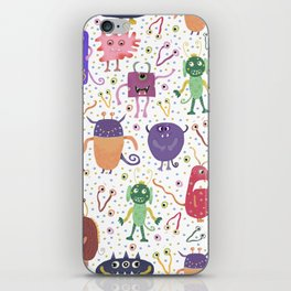 Colorful Friendly Monsters iPhone Skin