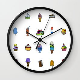 Ice Cream Truck Collage Wall Clock