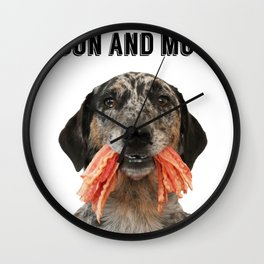 Bacon and Mutts Wall Clock