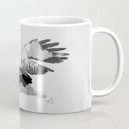 Fantasy Eagle - Landscape inside Coffee Mug