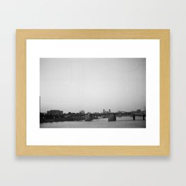 View from Portland bridge Framed Art Print