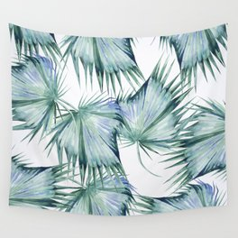 Floating Palm Leaves 2 Wall Tapestry