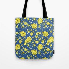 Floral Love of Mustard Tote Bag