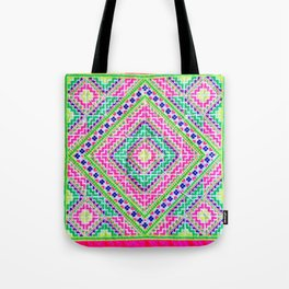 Hmong love square cross stitch Tote Bag
