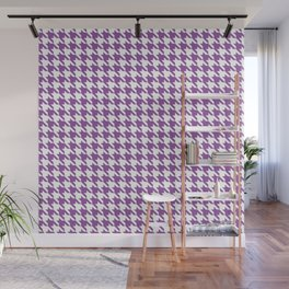 Light Violet Classic houndstooth pattern Wall Mural