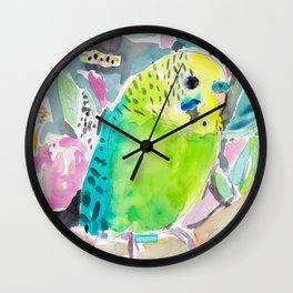 DISCO THE PARAKEET Wall Clock