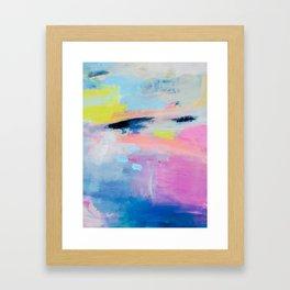 Dreamy Abstract pink Art  Framed Art Print