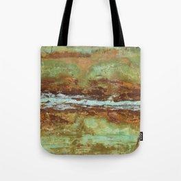 Blue Green Stream Tote Bag