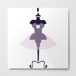 Monaco Fashion - Logo Metal Print