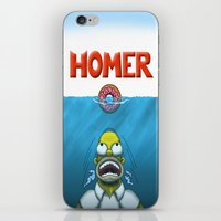 homer iPhone & iPod Skins featuring HOMER by BC Arts