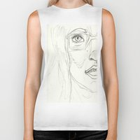 glasses Biker Tanks featuring Glasses by writingoverashes