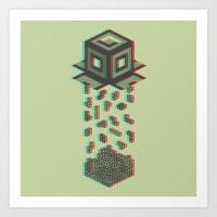 tetris Art Prints featuring Tetris by Delaney Digital