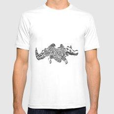 alligator MEDIUM White Mens Fitted Tee