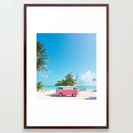 PINK VAN Framed Art Print
