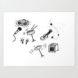 Music inverted Art Print