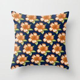Sawyer Navy Throw Pillow