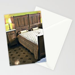 Sardinian bed room Stationery Cards
