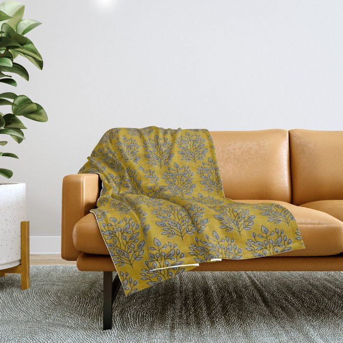 MARA GOLD LEAF Throw Blanket