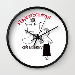 Flyig Squirrel Cafe Wall Clock
