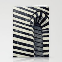 striped Stationery Cards featuring Striped by farsidian