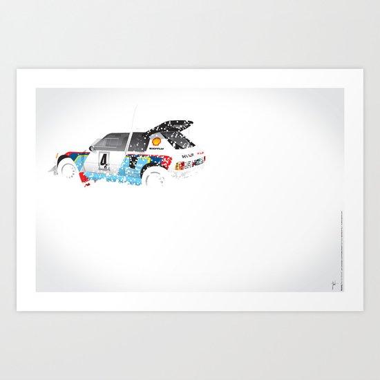 Juha Kankkunen-Juha Piironen, Peugeot 205 T16 E2, 1986 Swedish Rally Art Print