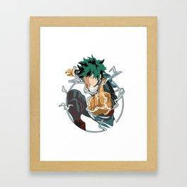 Boku no Hero - Midoriya Framed Art Print