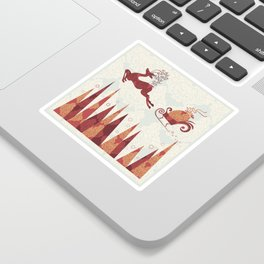 Forest Deer. Winter. Sticker