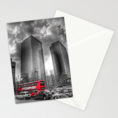 Double Decker London Bus Stationery Cards