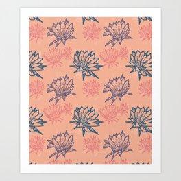 Mandacaru cactus flower Art Print