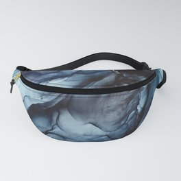 Blush and Darkness Abstract Paintings Fanny Pack