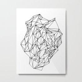Geometric pattern 02 black and white linework Metal Print