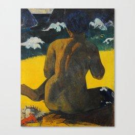 Woman on the Beach, Paul Gauguin Canvas Print